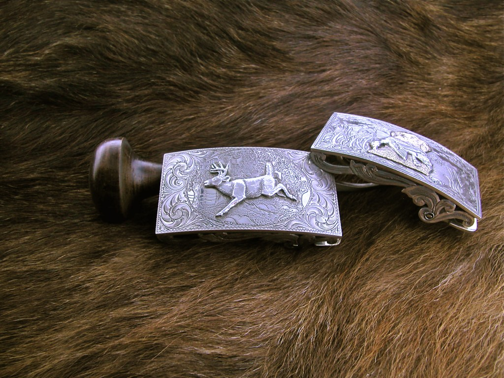 Silver Whitetail Buckle