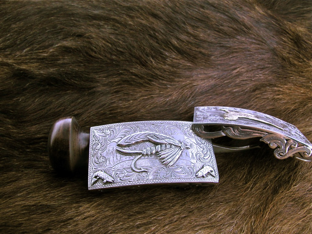 All Silver Large Fly Buckle