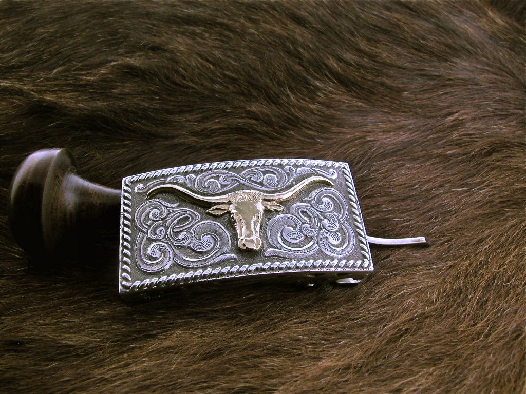 Small Steer Head Buckle