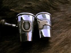 Horseshoe and Pheasant shot glasses